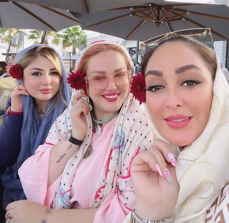 دورهمی بهاره رهنما، نیوشا ضیغمی، الهام حمیدی و همسرانشان در دوران کرونا!/ عکس