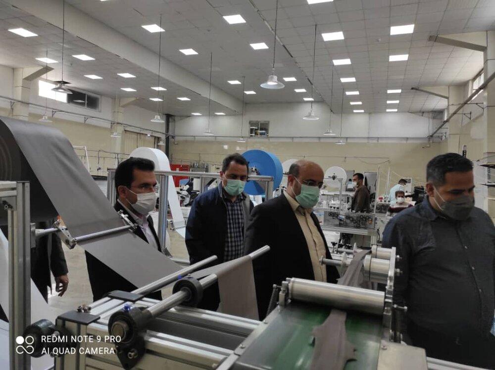 خط تولید ماسک سه بعدی ۵ لایه مورد بهره برداری قرار گرفت