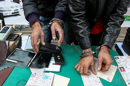 ببینید | دستگیری 154 سارق موبایل در تهران توسط پلیس مخفی