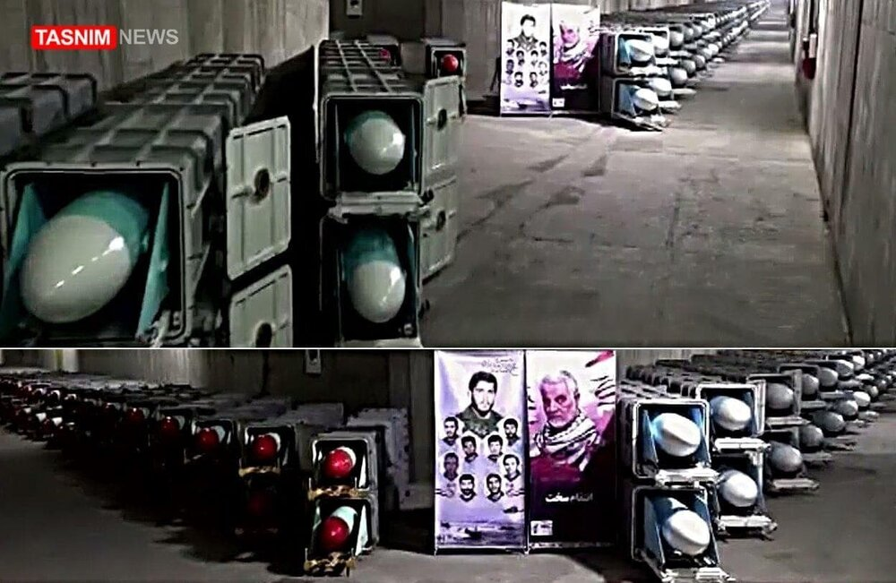 ردپای موشکهای بالستیک در در شهر موشکی زیرزمینی سپاه /موشک های ضد کشتی در تونل های انبار شهر زیرزمینی +تصاویر