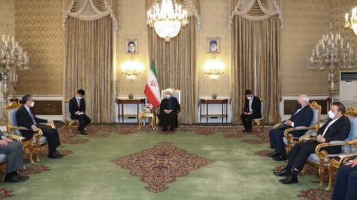 الرئيس روحاني : العلاقات مع الصين مهمة وستراتيجية بالنسبة لإيران