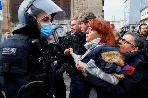 ببینید | برخورد خشن پلیس آلمان با معترضان به قرنطینه