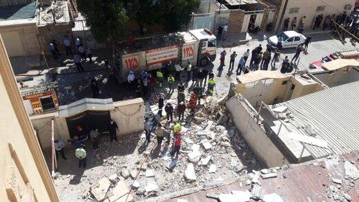 انفجار یک واحد مسکونی ۱۲ طبقه در کیان آباد اهواز