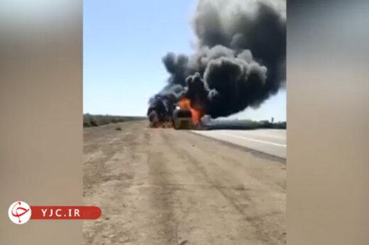 ببینید | حمله به کاروان لجستیک آمریکا در دیوانیه عراق