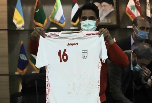 رونمایی از پیراهن های ایران و سوریه/عکس