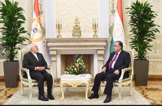 در دیدار ظریف با رئیس جمهور تاجیکستان چه گذشت؟