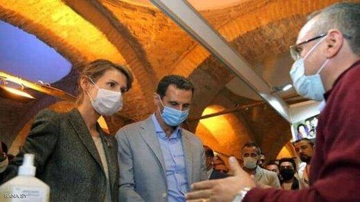 رهایی بشار اسد و همسرش از بند کرونا