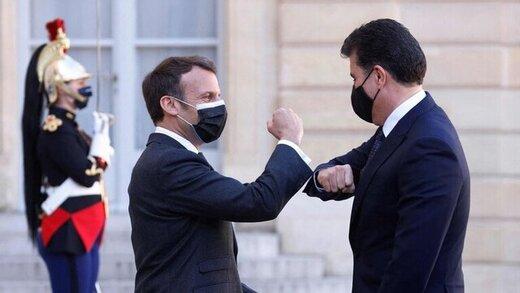 اعلام نتایج دیدار بارزانی و مکرون در پاریس