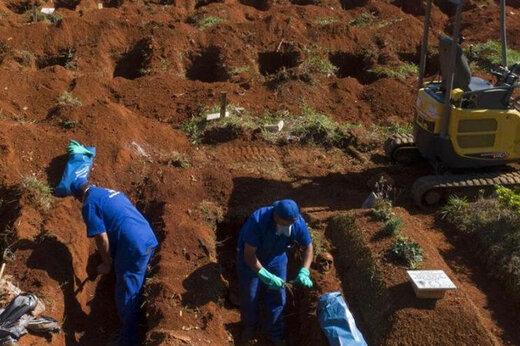 ببینید   تصاویری از نبش قبرهای قدیمی برای دفن اموات کرونایی در برزیل بدلیل آمار بالای جانباختگان