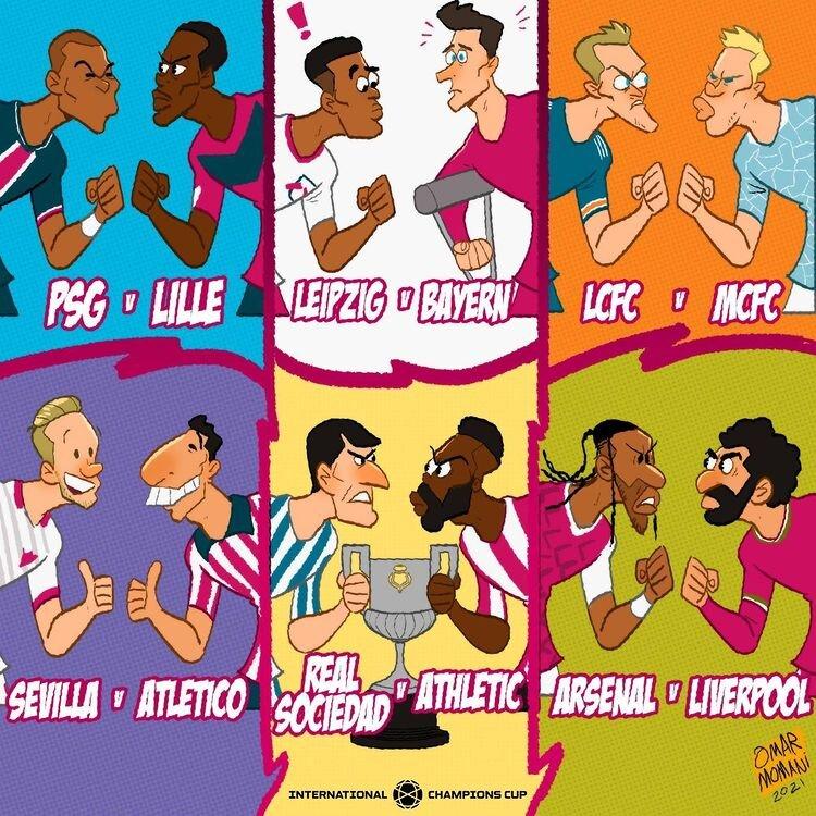 ببینید: رقابتهای داغ فوتبال اروپا در یک قاب!
