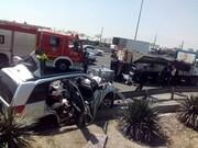 تصادف مرگبار در بزرگراه آزادگان تهران/ تصاویر