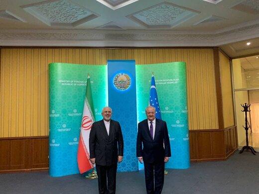 FM Zarif meets Uzbek counterpart