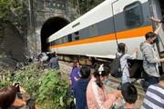 ببینید | انتشار اولین تصاویر از لحظه حادثه مرگبار قطار مسافری تایوان