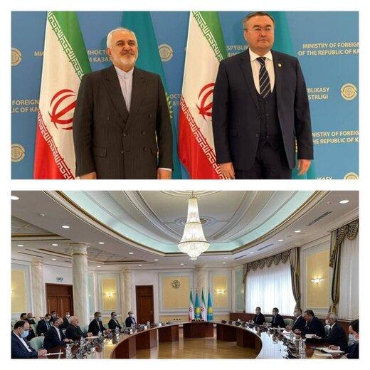 ظريف يجري محادثات مع نظيره الكازاخستاني