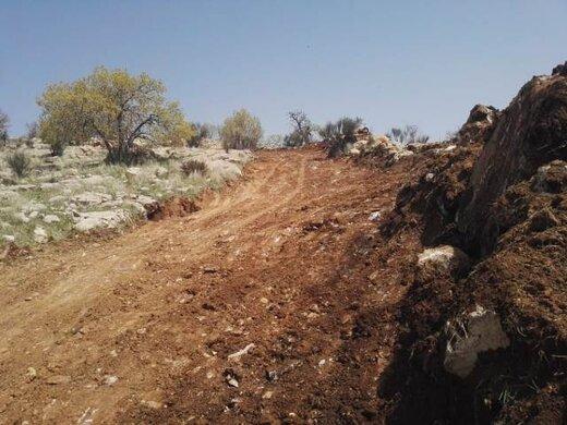 مهار آتشسوزی در منطقه حفاظت شده «مله گاله» فارس