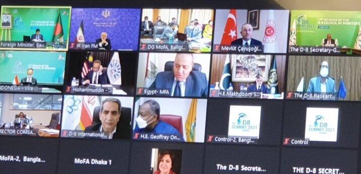 ظریف: آماده همکاری با کشورهای «دی ۸» در حوزههای مختلف هستیم