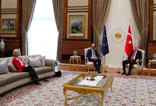 ببینید | ضایع کردن خانم رئیس توسط دولت ترکیه!