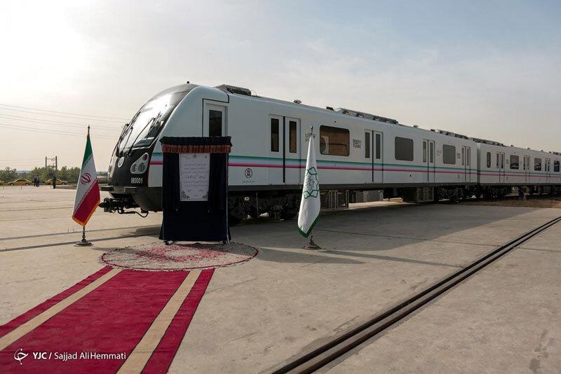 5549303 - تصاویر | رونمایی از نخستین نمونه قطار ملی مترو