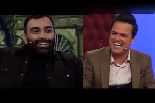 ببینید | شوخی حامد آهنگی با آهنگ مسعود صادقلو