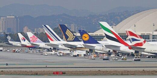 کاهش ۶۴ درصدی پروازهای عبوری از ایران