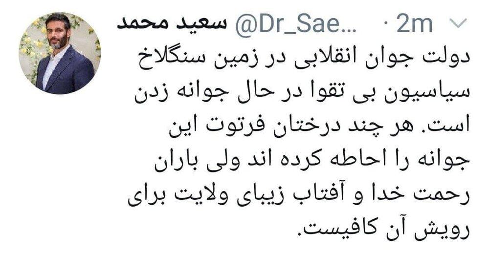 کنایه انتخاباتی سردار محمد به سیاسیون