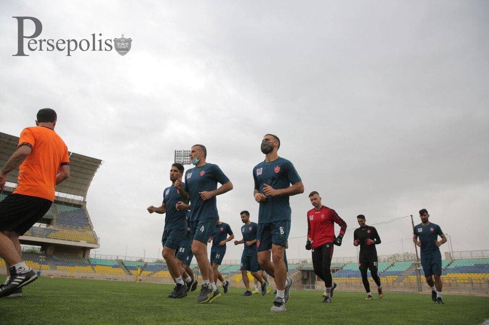 آخرین تمرین پرسپولیس در ایران؛ سرخپوشان فردا راهی هند می شوند/عکس