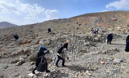 مشارکت کوهنوردهای چهارمحال و بختیاری در پاکسازی طبیعت شهرکرد