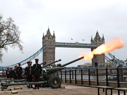 ببینید | شلیک توپ در نواحی مختلف بریتانیا به احترام شاهزاده فیلیپ