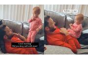 ببینید | تلاش دیدنی یک کودک برای صحبت با پدر ناشنوایش با زبان اشاره