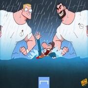 ببینید مسی در این سیل، غرق شد!