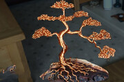 ببینید | خلق حیرتانگیز یک اثر هنری زیبا با استفاده از سیم