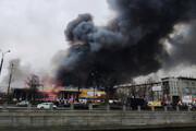 ببینید | آتشسوزی مرگبار در یک کارخانه قدیمی در سنپترزبورگ