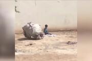 ببینید | سوژه داغ فضای مجازی؛ تصاویر تاثیرگذار نماز خواندن یک کودک کار