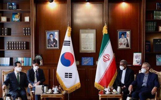 لاریجانی به نخست وزیر کره جنوبی: سریعتر پولهای بلوکه شده ایران را آزاد کنید