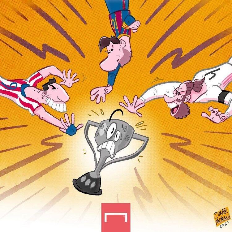 5551107 - ببینید: این سه نفر بدجوری دنبال جام لالیگا هستند!