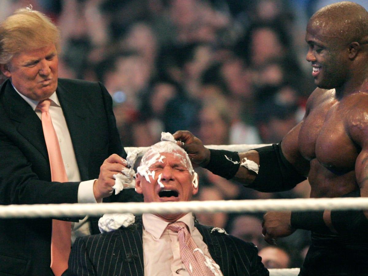 Trump shaving Vince McMahon's head