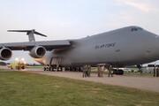 ببینید | هواپیمای غول پیکر نیروی هوایی آمریکا آتش گرفت