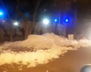 یک اتفاق عجیب در تبریز: کف و آب از تونل مترو به خیابان بالا زد