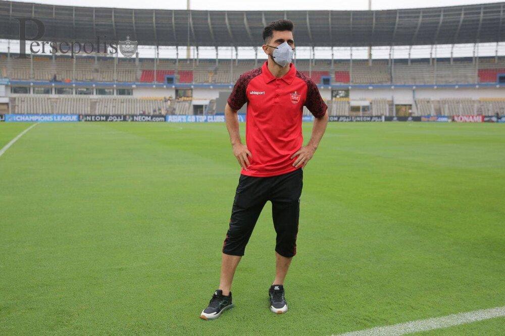 بازدید گلمحمدی و عالیشاه از ورزشگاه دیدار با الوحده