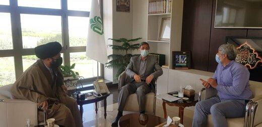 دیدار سید فرزاد نجات نیا با رئیس بنیاد مستضعفان/وعده فتاح به مناطق لنده و دیشموک سفر خواهم داشت