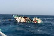 ببینید | نجات سرنشینان لنج باری در آبهای خلیج فارس