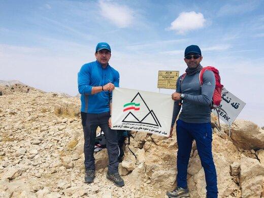 صعود تیم کوهنوردی قشم به قله ۳۲۶۷ متری «تشگر» هرمزگان