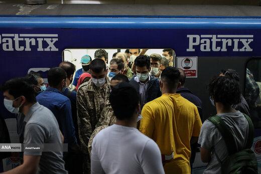 مترو در روز های خطرناک تهران