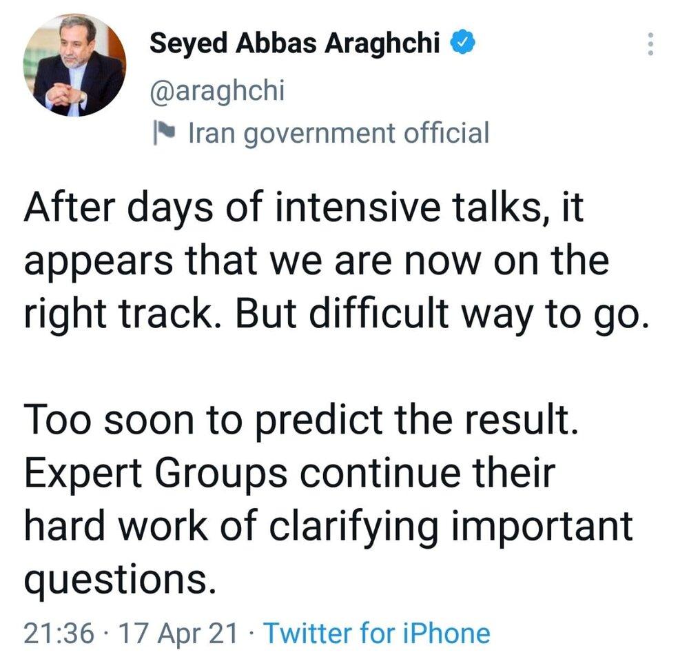 توئیت عراقچی پس از نشست کمیسیون مشترک برجام