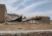 خسارت به  برخی از منازل قدیمی در زلزله ۵.۹ ریشتر گناوه