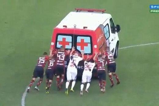 ببینید | ماجرای آمبولانسی که وسط مسابقه فوتبال خراب شد از زبان جواد خواجوی