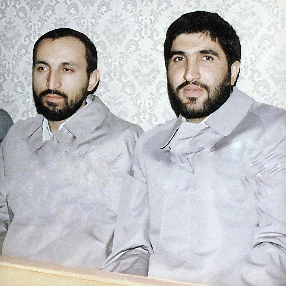 عکس   مرحوم سردار حجازی در کنار شهید احمد کاظمی