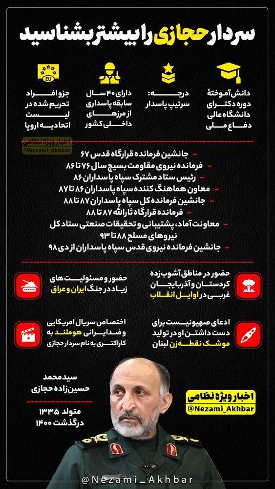 اینفوگرافیک   سردار حجازی را بیشتر بشناسید