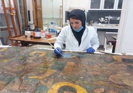 نقاشی ۲۱۱ ساله ایرانی، زنده میشود