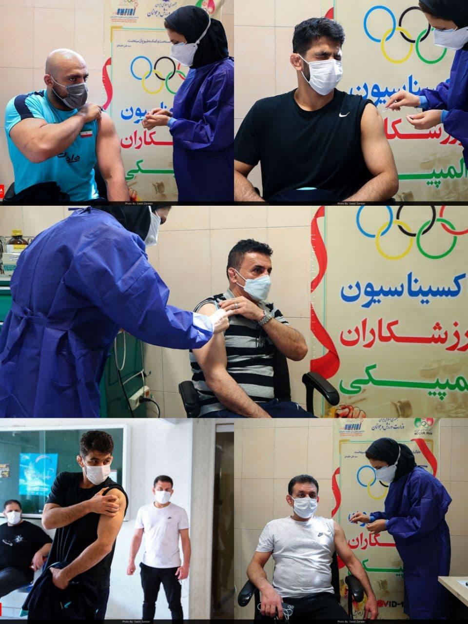 چهره جالب حسن یزدانی هنگام تزریق واکسن/عکس